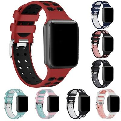 $ CDN3.93 • Buy 42/44mm Soft Silicone Sport Watch Band Strap Best For Apple Watch Series 4 3 2 1