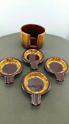 $ CDN22.99 • Buy Blue Mountain Pottery Ashtray Cubby W/4trays In Harvest Gold