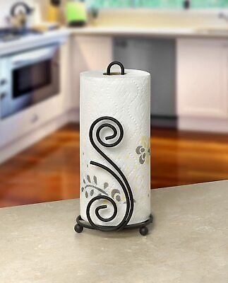 $27.99 • Buy Paper Towel Holder Metal Stand Tabletop Stylish Sturdy Kitchen Unique Decorative
