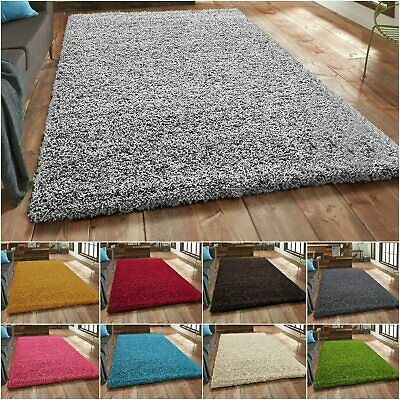 Thick Shaggy Large Rugs Hallway Rug Runner Non Slip Living Room Carpet Deep Pile • 16.79£