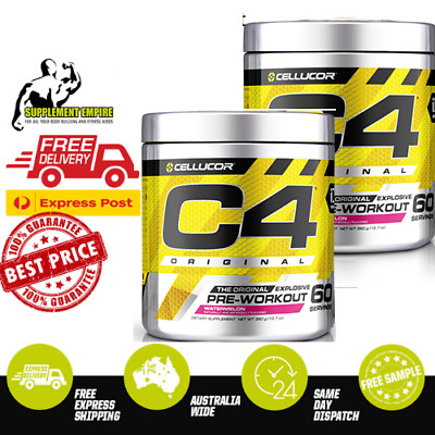 AU94.50 • Buy 2 X Cellucor C4 ORIGINAL ID SERIE Pre Workout Preworkout 60 Serves TWIN PACK