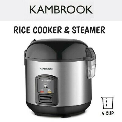 AU69.95 • Buy Kambrook Compact Electric Rice Cooker + Food Steamer Tray Stainless Steel