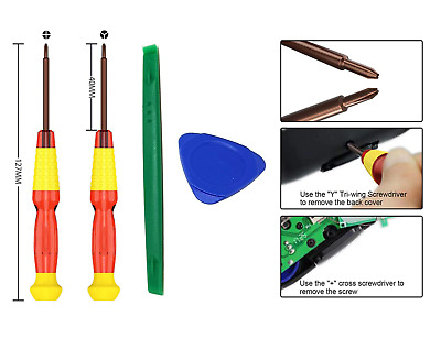 Tri Wing And Philip Screwdriver Tools Set For Nintendo Switch Joy-con Controller • 3.99£