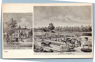 Postcard OH R. L. Walker And I. R. Hayes Residences From Frank Kenley Candidate • 2.19£