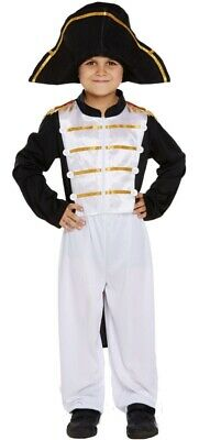 Boys Napoleon Fancy Dress Costume 7-9 Years French Military Includes Hat • 14.99£