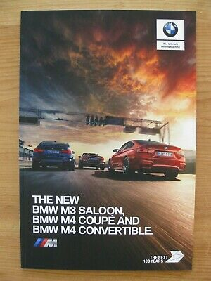 $16.94 • Buy BMW M4 Coupe / Convertible & M3 Saloon UK Sales Brochure (2017); Inc Competition