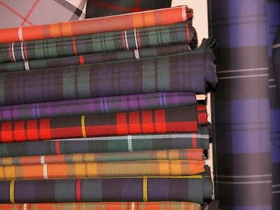 5 1/2   / 13 Cm  SQUARE SAMPLE AUTHENTIC TARTAN FABRIC HEAVY POLYESTER VISCOSE   • 1.75£