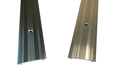 Cover Strip / Vinyl Or Carpet Door Bar Trim - Silver Or Grey - Threshold Metal • 4.99£