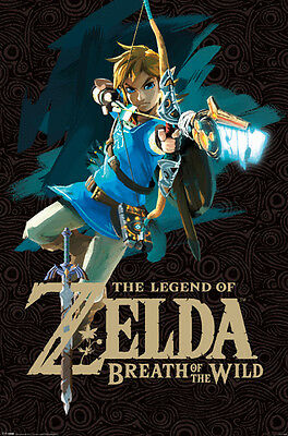 $11.99 • Buy LEGEND OF ZELDA BREATH OF THE WILD BOW 24x36 POSTER NINTENDO CLASSIC ICON GIFT!!
