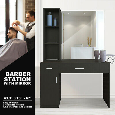 $299.99 • Buy Wall Mount Barber Salon Station Makeup Beauty Hairdressing Equipment Set Mirrors