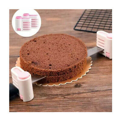 £4.99 • Buy 2 PCS Cake Levellers Cutter Bread Slicer Durable Plastic Adjustable Layered Tool
