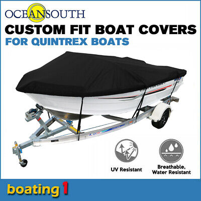 AU213.03 • Buy Oceansouth Custom Fit Boat Cover For Quintrex 450 Fishabout Runabout Boat