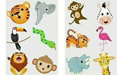 24 X JUNGLE ZOO ANIMAL Temporary Tattoos Kids Boys Girls Party Bag Filler Toy  • 1.59£