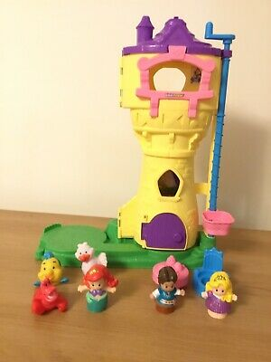 Fisher Price Little People Disney Princess Rapunzel Tower With Sound • 12.99£