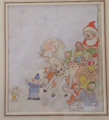 Father Christmas And Friends  Painting By Mabel Lucie Atwell • 792.28£