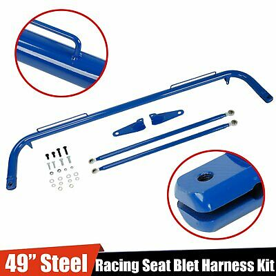 $77.55 • Buy Stainless Steel 49  Racing Safety Seat Belt Chassis Roll Harness Bar Rod BLUE