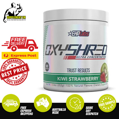 AU64.75 • Buy EHP Labs OxyShred KIWI STRAWBERRY Flavour Thermogenic Fat Burner 60 Servings