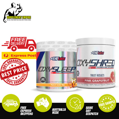 AU114.95 • Buy EHP Labs Oxyshred  Fat Burner Thermogenic 60 Serves & OxySleep 40 Serves STACK