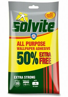 Solvite All-Purpose Extra Strong Wallpaper Paste Adhesive - Hangs Up To 15 Rolls • 5.99£