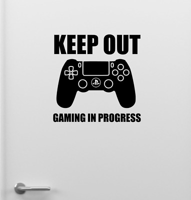 Funny Ps4 Keep Out Gaming Door Sticker Gamer Tag Game  Eat Sleep Play Station • 2.99£