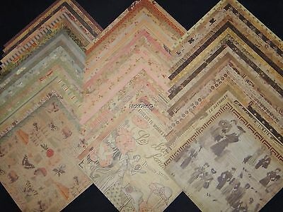 $26.95 • Buy 12x12 Scrapbook Paper Studio Theodosia Square Vintage Fashion Couture Ads 60 Lot