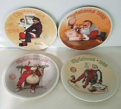$ CDN78.91 • Buy Knowles Norman Rockwell Christmas Plates 1983 1985 1995 1996