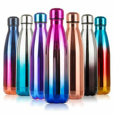 AU18.59 • Buy Stainless Steel Vacuum Insulated Bottle Water Drinks Flask Metal Thermal 500ML