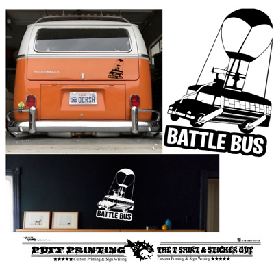 Battle Bus PS4 Xbox Gaming Wall Art Stickers Decals Vinyl Home Decor UK Fort  • 2.99£