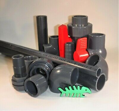 20 Mm PVC Solvent Weld PRESSURE Pipe Fittings, Marine, Aquarium, Aquatics.  • 2.99£