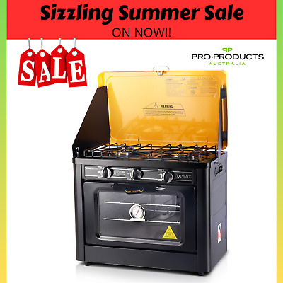 AU246.40 • Buy Portable LPG Gas Oven Stove Cooker Cooktop 2 Burner Camping Picnic Stainless BBQ