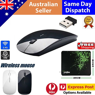 AU8.86 • Buy Wireless Optical Mouse Mice+USB Receiver Mouse Pad For PC Computer 2.4GHz