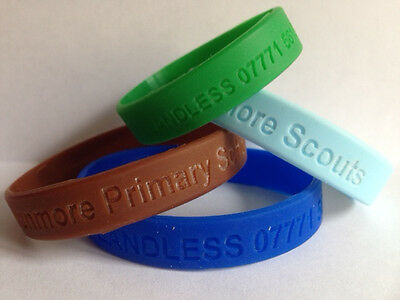 Diabetes Wristbands - Personalised, Various Colours And Sizes • 4£