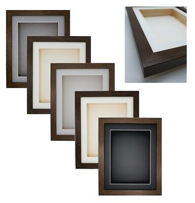 £24.99 • Buy 3D Deep Box Brown Photo Picture Craft Medal Object Memorabilia Display Frame