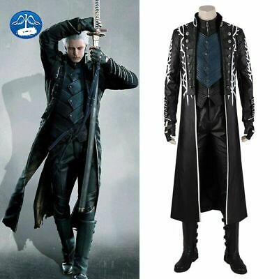 $135.36 • Buy Game Devil May Cry 5 Vergil Dante Nero Cosplay Costume Boots Halloween Outfits