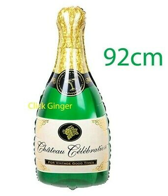 AU4.50 • Buy Champagne Celebration Sparkling Wine Bottle Foil Balloon 92cm Valentines Day