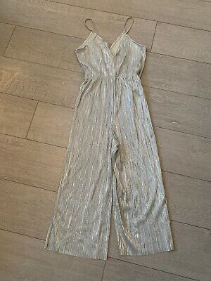 Silver Metalic Jumpsuit! Worn Once Size Small • 5£