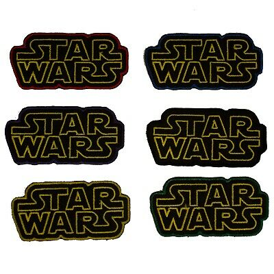 £1.99 • Buy Star Wars Light Sabers Logo Patch Badge Applique Iron On Sew On SW1