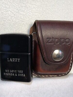 $10.99 • Buy New Zippo XI Lighter Plus Zippo Leather Belt Pouch Engraved Zippo Things Remembe