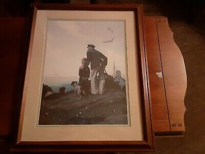 $ CDN112.79 • Buy Vintage Norman Rockwell To Sea Man & Boy Large Print 16  X 12