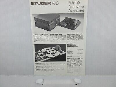 $9.99 • Buy Studer A810 Accessories Sale Brochure Booklet Rare