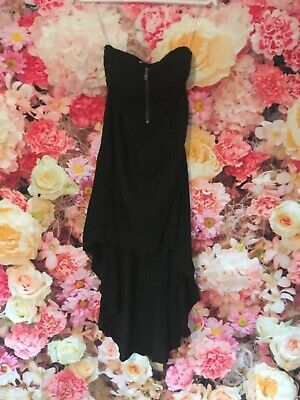 Eva And Lola Black Lace Bust Detail Sweetheart Club Party Prom Dress 8 • 14.99£