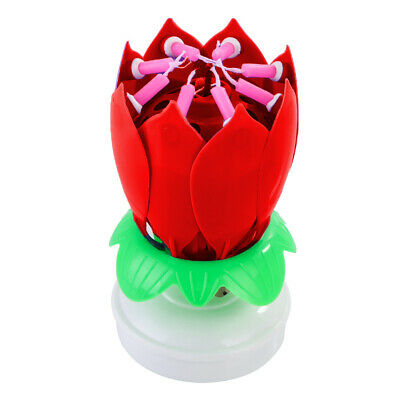 $ CDN3.85 • Buy Rotating Music Blossom Birthday Candle Decoration Musical Lotus Flower Cake