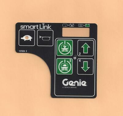 $18.95 • Buy Genie Gen 6 Control Box Decal - Overlay - 6 Button -  # 137636