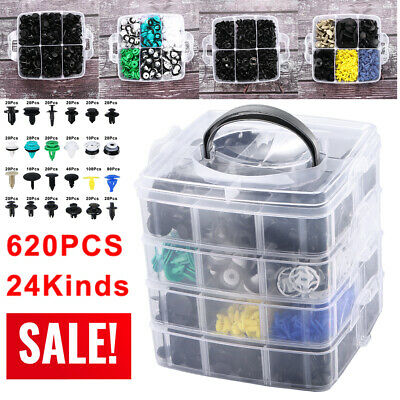 $35.11 • Buy 24 Kinds 620 Pcs/Set Plastic Auto Fasteners Car Bumper Fender Repair Parts Clips