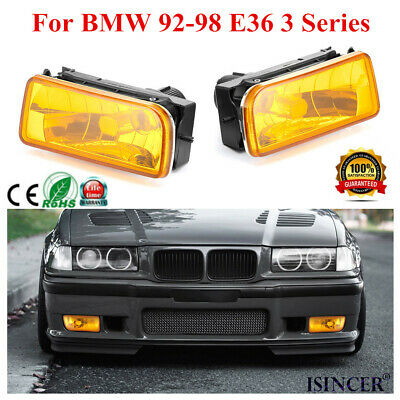 $27.89 • Buy For BMW 92-98 E36 3 Series Replacement Fog Light Yellow Lens Bulb Kits HOT
