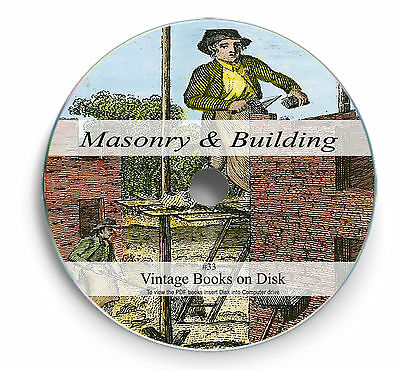 £3.90 • Buy Rare Books On DVD Learn Masonry Brick Laying Plastering Building Architecture 33