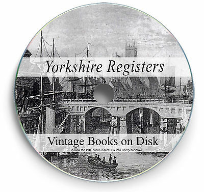 Yorkshire England Parish Registers - Rare Books On DVD - Genealogy History 267 • 3.90£