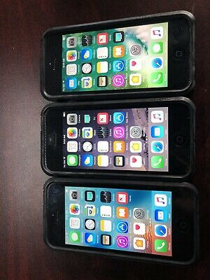 $ CDN243.60 • Buy Lot Of Black/Gray Apple IPhone 5 GSM 16gb