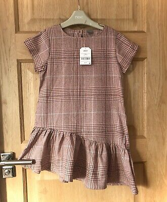 New With Tags NEXT *7y GIRLS CHECKED DRESS AGE 7 YEARS • 2.99£