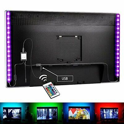 $6.90 • Buy 5V LED Strip Lights TV Back 1m 2m Light RGB 24keys Remote Control Flexible Tape